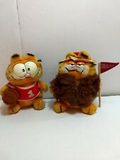vintage Garfield stuffed animals lot of 2 1981