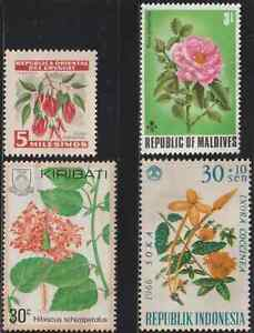 (RX97)MINT STAMPS 4V FLOWERS MNG