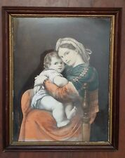 Antique Mother & Child Print Framed 20-1/2'' x 16-3/4''