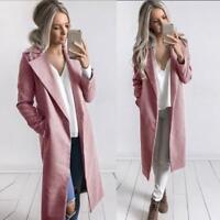 Women Winter Warm Jacket Overcoat Long Trench Jacket Cardigan Coat Parka Outwear