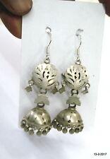 earrings jumka belly dance jewellery vintage antique ethnic tribal old silver