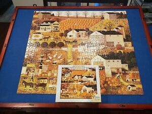 Charles Wysocki Bread and Butter Farms 1000 PC Puzzle Complete Hasbro Autumn
