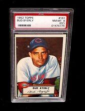 1952 TOPPS BASEBALL CARD #161 BUD BYERLY GRADED PSA 8 OC MLB CINCINNATI REDS