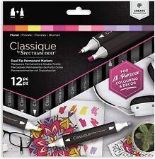 Spectrum Noir Classique - Dual Tip Permanent Markers - 12pc - (FLORAL)