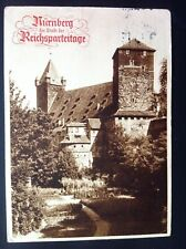 Germany Third Reich Nuremberg Rallies Sepia Postcard Nuremberg Castle 11/9/36