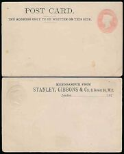 GB QV STATIONERY 1878 STANLEY GIBBONS STO STAMP DEALER
