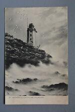 R&L Postcard: St Anthony's Lighthouse Falmouth, Raphael Tuck Rough Sea 818