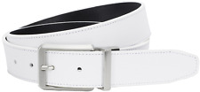 Nike Golf Mens Core Reversible Leather Belt White/Black Nwt - Choose Your Size