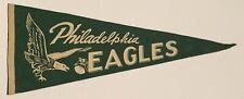 Vintage 1950's Philadelphia Eagles Full Size NFL Football Pennant Antique Early