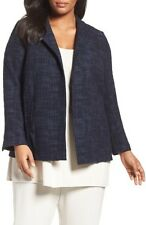 NWT Eileen Fisher Midnight Crosshatch Tencel/Organic Cotton Stretch Jacket Sz.3X