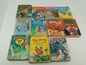 11x Vintage Whitman Big Little Books Dick Tracy, Popeye, Tarzan, Aquaman, Goofy