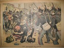 ITALIE MILAN EMEUTES ESPAGNE ROI REINE REGENTE JOURNAL LE PETIT MARSEILLAIS 1898
