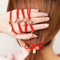Women Girls Hair Band Ties Rope Ring Elastic Hairband Holder Ponytail 2021 S7E7