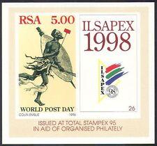 "RSA 1995 ""ILSAPEX '98""/World Post Day/Postman/Mail/StampEx 1v m/s (s5636)"