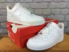 NIKE MENS AIR FORCE 1 LOW WHITE LEATHER BASKETBALL TRAINERS RRP £80 GRADE B