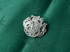 Celtic Seahorse Button, Handcrafted in Fine Lead-Free Pewter