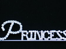 BIRTHDAY PARTY WEDDING BRIDE CROWN PAGEANT WORD PRINCESS PIN BROOCH JEWELRY 4""