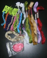 Assortment of DMC Cotton Floche, No. 16 and skeins