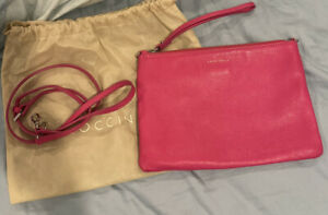 Coccinelle Pink Leather Crossbody Bag