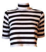 Maglietta Corta T-shirt Collo Lupetto Mezza Manica Donna Cotone JUNKYARD Tag  S