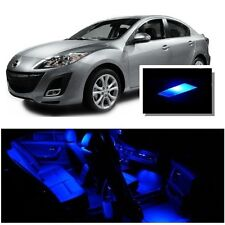 For Mazda 3 2010-2013 Blue LED Interior Kit + Blue License Light LED