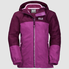 Winterjacke Jack Wolfskin Girls Iceland 3in1 Jacket Dark Peony Gr. 152