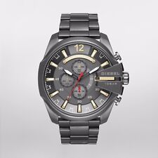 Diesel Men's Mega Chief Gunmetal Stainless Steel Bracelet Watch  DZ4421 NEW!