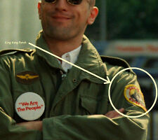 FANCY DRESS HALLOWEEN COSTUME PARTY MOVIE PROP Taxi Driver M-65 Jacket Patch #1