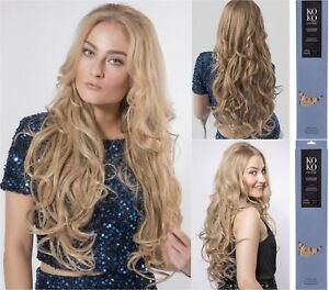 """KoKo Couture 22""""  Lena 3 Pieces Clip in Hair Extension Curly -premium Thick Weft"""