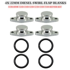 4 X 22 mm BMW Diesel Swirl Flap Blanks 320d 330d 520d 525d 530d 730d 4-cyl.