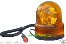 LAMPEGGIANTE ROTANTE CALAMITATO AUTO TRATTORE 12 VOLT LUCE ARANCIONE ROTANTE V