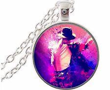 Fan de Michael Jackson 2017 Limité chaîne collier pendentif verre