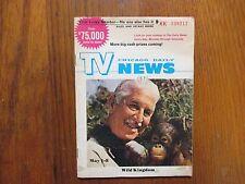 May 1, 1971 Chicago Daily News TV News(WILD  KINGDOM/ROBERT STACK/MARLIN PERKINS