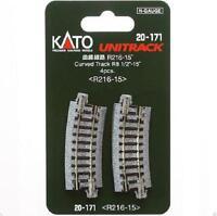 Kato 20-171 Rail Courbe / Curve Track R216mm 15° 4pcs - N