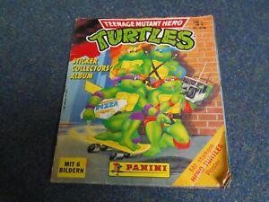 Turtles Sammelalbum von Panini, komplett alle Sticker vorhanden,