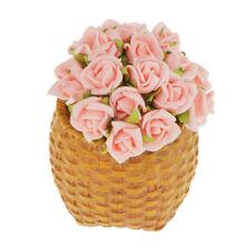 100 x Mini Fake Roses Silk Flowers Foral Bridal Bridesmaid Wedding Pink