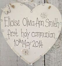 Handmade Heart Hand Painted Decorative Plaques & Signs