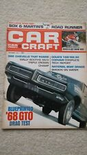 1967 CAR CRAFT magazine. PLYMOUTH ROADRUNNER. CHEVELLE 396. CORVAIR.SNOWMOBILES.