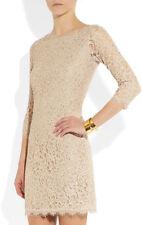 DVF Lace Zarita Nude Dress US sz 14 UK sz 18   NWT