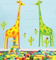 Giraffes cactus Wall Stickers Nursery/Children/Kids Room Animal Art Decal Decor