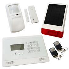 House Burglar Alarm Wireless White Sentry Pro Solar Kit 1 Solar Powered Siren