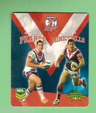 TIP TOP NRL 2013  FOOTY SUPERSTARS CARD #46 PEARCE / MINICHIELLO, ROOSTERS