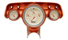 1957 chevy bel air classic instruments gauge cluster tan with clock ch01tslf