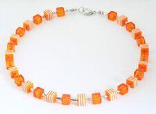 KETTE  RESIN WÜRFELKETTE Kette  TOLLER TREND orange    022