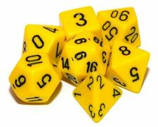 Set of 7 Yellow Poly Dice