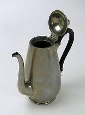 Kaffeekanne versilbert Holzgriff Deckel Mokkakanne alt antik Sammler Deko Kanne