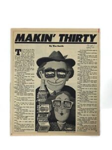 Vintage article 1983 Makin' Thirty By Wes Smith Illustration By Larry Paulsen