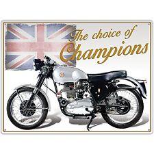 "BSA Goldstar Motorbike ""Choice Of Champions"" metal sign   (rh)"