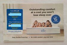 IDLE SLEEP 35% OFF, B1/G1, 2 PILLOWS 1x use EXP 10/31/20 idlesleep.com