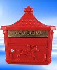 Briefkasten Wand Post Empfänger rot Metall im Vintage Geschenk antiker Stil